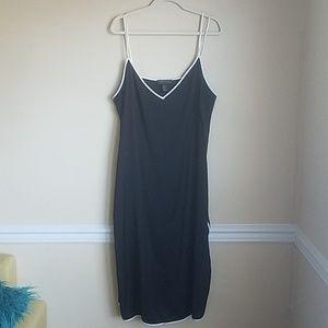 Black Forever 21 Plus Size Slip Midi Dress